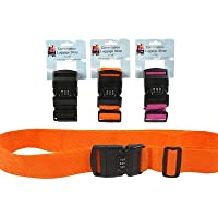 3 Pk. Useful Universe Travel Luggage Strap Adjustable Suitcase Packing Belt with Combination Lock