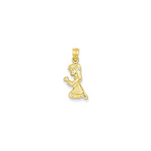 Roy Rose Jewelry 14K Yellow Gold Praying Girl Pendant