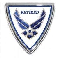 Air Force (Retired) Shield Chrome Auto Emblem