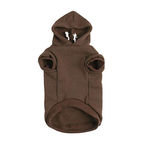 uxcell Pet Dog Hooded Hoody Sweatshirt Clothes Cotton Apparel Puppy Cat Winter/Spring/Fall Costume Outfits Fleece Warm…