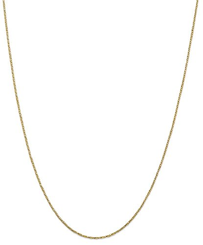 ICE CARATS 14k Yellow Gold .95mm Twisted Link Box Chain Necklace 18 Inch Fine Jewelry Gift Set For Women Heart by ICE CARATS