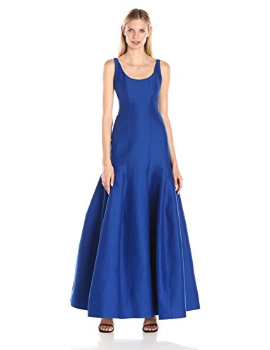 Halston Heritage Women's Tulip Evening Gown, Cobalt, 8 (Silk Tulip Dress)