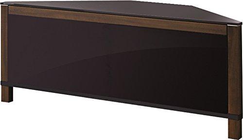 mda designs volans meuble tv d'angle en verre et bois de noyer ... - Meuble Tv D Angle Design