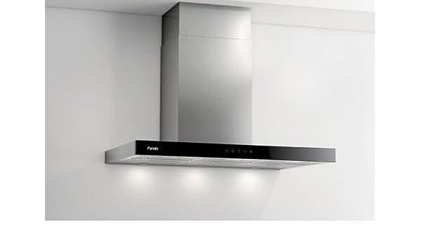 Pando P-826 595 m³/h De pared Negro, Acero inoxidable - Campana (595 m³/h, Canalizado, 36 dB, 52 dB, De pared, Negro, Acero inoxidable): Amazon.es: Hogar