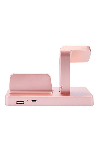 Apple Watch Stand, iPhone Docking Station, 2-in-1 Multi-Charging Station Hub for Apple Watch Series and All Smart Phone by SPRAWL (Image #6)
