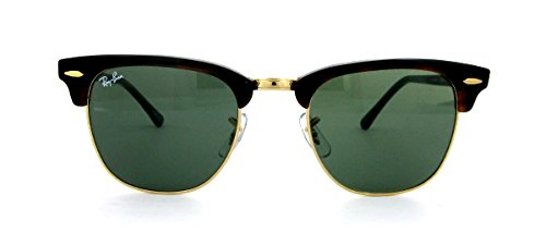 Ray Ban Clubmaster Sunglasses RB3016 W0366 Havana//Green 51mm Authentic