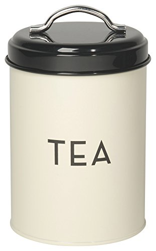 Art Deco Tin - Now Designs Tea Tin, Ivory