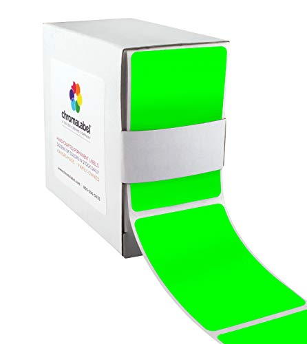ChromaLabel 2 x 3 inch Color-Code Labels | 250/Dispenser Box (Fluorescent Green)]()