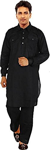 High Hills Men`s Ethnic Indian Kurta and Payjama Set for Men. by High Hill