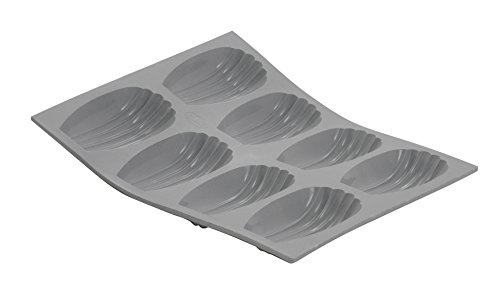 ELASTOMOULE Silicone Mold, 8 Portions Madeleines, 8.25
