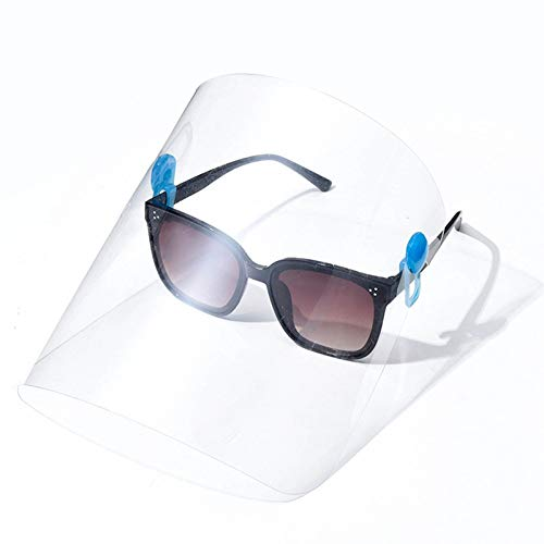 CLEAR-CLIP ON TO GLASSES FACE SHIELD