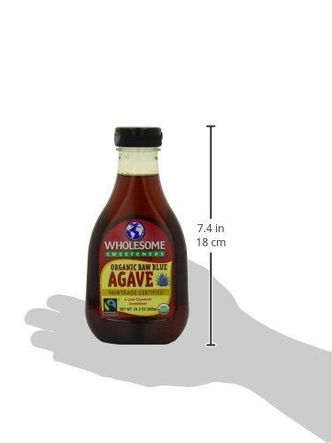 012511202316 - Wholesome Sweeteners, Organic Raw Blue Agave, 23.5 Ounce, 6 Pack carousel main 4