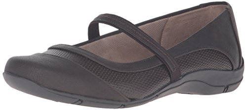 LifeStride Women's Dare Mary Jane Flat, Dark Brown, 6.5 W US