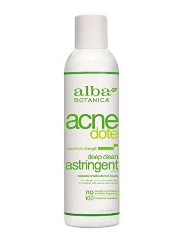 Alba Botanica Natural Acnedote Deep Clean Astringent, 6 Ounce (Pack of 3)