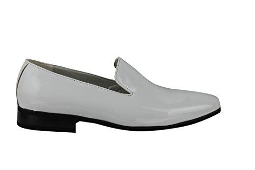 Xposed - Zapatillas Bajas hombre blanco (White Patent)