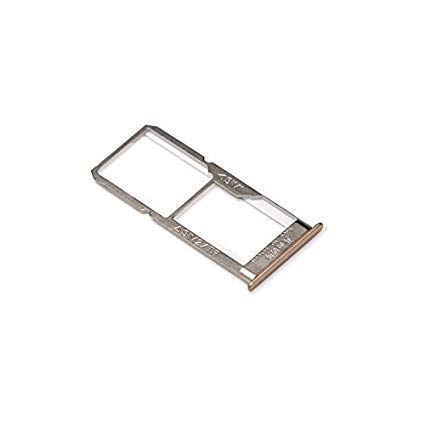 MOBILE MENIA Dual SIM Tray Sim Card Slot Holder Compatible with Oppo A37 : Gold