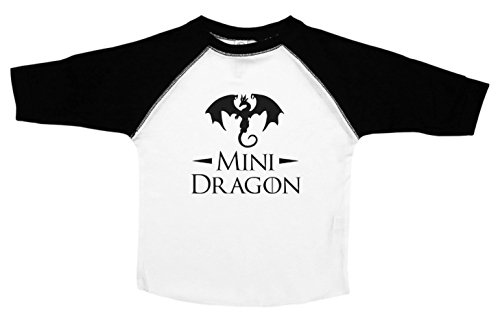 Mini Dragon / Game of Thrones / Funny Toddler Shirts / Kids Baseball Tee (5/6) (Dragon Girl Game Of Thrones)