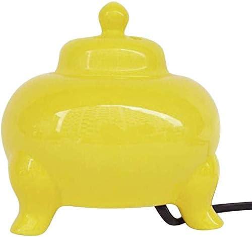 La aromaterapia electrónicos de cerámica Horno de Control de Temperatura libremente Quemador de Incienso, Aceite Esencial del difusor Home Plate Porcelana Bandeja de Recogida de Ceniza (Color : B)