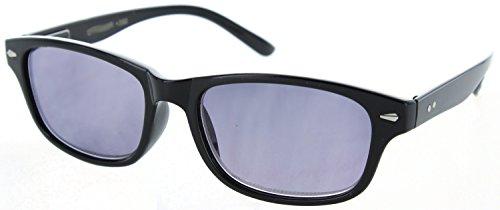 - Fiore Square Full Frame Reading Sunglasses Readers for Men and Women [1.75, Black]