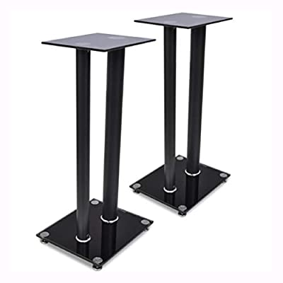 HomyDelight Speaker Stand & Mount, 2 pcs Glass Speaker Stand