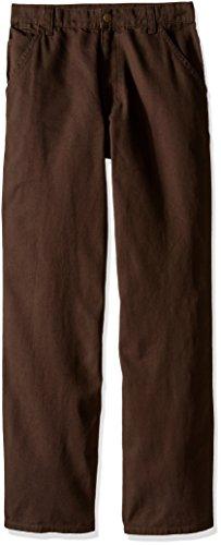 Carhartt Boys' Big' Dungaree Pants, Mustang Brown, 10