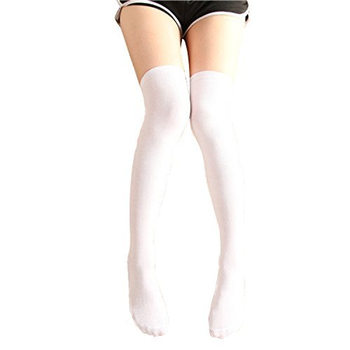 e3cb1df79 Tinksky 2 Pairs Over the Knee Thigh High Stockings Long Socks for ...