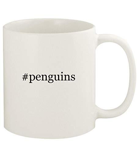 #penguins - 11oz Hashtag Ceramic White Coffee Mug Cup, White