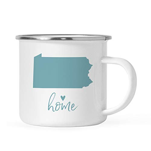 - Andaz Press 11oz. US State Stainless Steel Campfire Coffee Mug Gift, Aqua Home Heart, Pennsylvania, 1-Pack, Metal Camping Camp Cup Long Distance Moving Away Hostess Graduation Gift