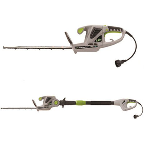 Earthwise 18-Inch 2.8-Amp Corded Electric 2-in-1 Pole/Hand-held Hedge Trimmer, Model CVPH41018