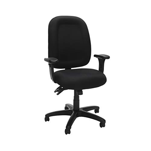 OFM Core Collection Ergonomic Task Chair with Arms, Mid Back, in Black 125-805