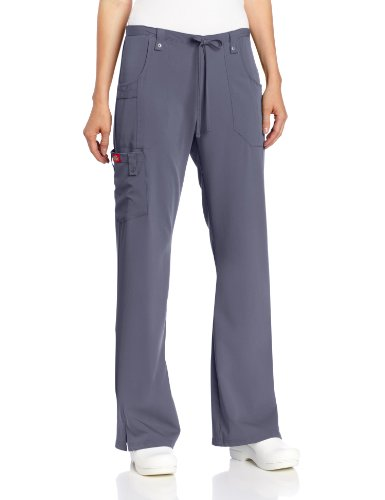 Dickies Women's Xtreme Stretch Fit Drawstring Flare Leg Pant, Pewter, Small by Dickies