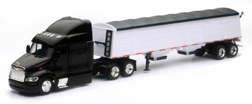 NEW 1:43 NEWRAY TRUCK & TRAILER COLLECTION - PETERBILT MODEL 387 GRAIN HAULER Diecast Model By NEW RAY TOYS