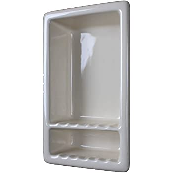 L2 Large Tile Shower Niche Shelf Gloss White Shampoo Soap