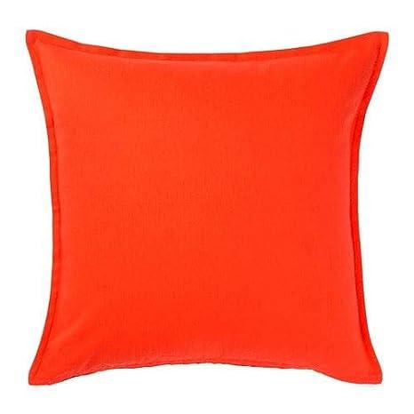 IKEA GURLI - Funda de cojín (50 x 50 cm), color naranja ...