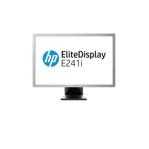 HP F0W81A8 EliteDisplay E241i - LED monitor - 24 inch - 1920 x 1200 - IPS - 250 cd/m2 - 1000:1 - 5000000:1 (dynamic) - 8 ms - DVI-D, VGA, DisplayPort - silver - promo - Smart Buy
