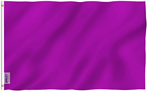 Anley Fly Breeze 3x5 Foot Solid Purple Flag - Vivid Color an