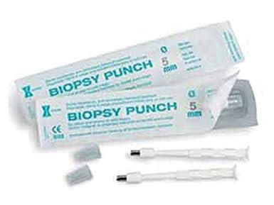 Stiefel - Biopsia Curette-Punzones, Estéril, Desechable, Acero Inoxidable Borde afilado, Mango ergonómico, Tamaño Ø 4 mm, Paquete de 10 Curetas en ampolla.