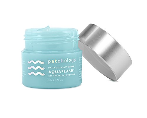 Patchology AquaFlash Daily Gel Moisturizer to Deeply Hydrate and Refresh Skin w|Hyaluronic Acid, Vitamin B5, Aloe Extract
