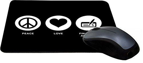 Rikki Knight Peace Love Financial Advisor Black Color Design Lightning Series Gaming Mouse Pad  Mpsq Rk 42320