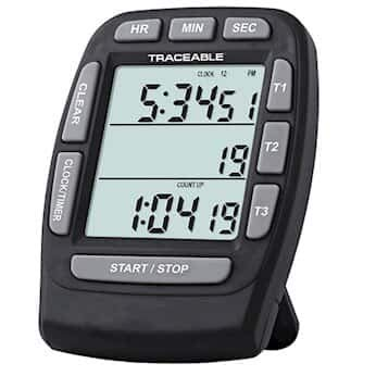 Traceable Triple-Display Digital Clock/Timer with Calibration