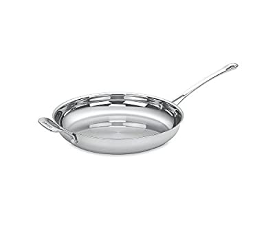 Cuisinart Contour Stainless Open Skillet with Helper Handle
