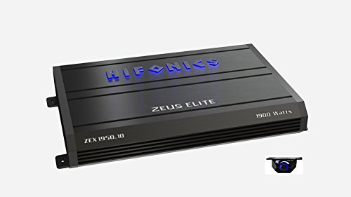 Hifonics Zeuz ELITE ZEX1950.1D Car Audio 1900 Watts RMS Mono Block Amp with Blue illuminated Logo 1 Ohm Stable Class D Subwoofer Black Amplifier with Remote Bass Boost Control Knob Included ()