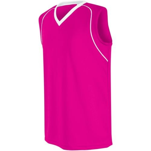 Women's/Girls Athletic Sports Jersey Moisture Management, Rib-Knit V-Neck Sleeveless Shirt (Uniform Softball, Soccer, Volleyball)