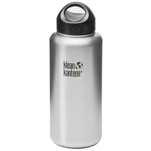 Klean Kanteen 40oz Kanteen Wide (w/Stainless Loop Cap) Brushed Stainless