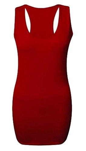 fitness Canotta rosso sportiva a donna maniche per lunghe qXgvUxawX