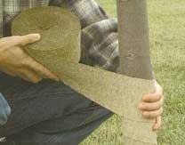 4 Inch x 100 Yards Leonard Burlap Tree Wrap A.M