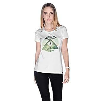 Creo Paris Louvre T-Shirt For Women - L, White