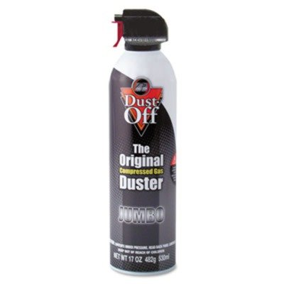 Dust-Off Products - Dust-Off - Disposable Compressed Gas Duster, 17oz Can - Sold As 1 Each - Blows away dust and lint. - 100% ozone safe. - Trigger controls spray power. - Slip-on extender. -