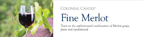 Colonial Candle 22-Ounce Scented Oval Jar Candle, Fine Merlot