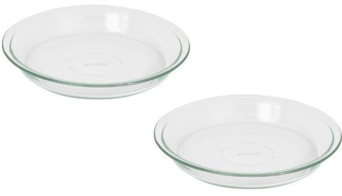 Pyrex Glass Bakeware Pie Plate 9'' x 1.2'' Pack of 2 by Pyrex